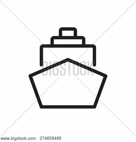 Ship Icon Isolated On White Background. Ship Icon In Trendy Design Style For Web Site And Mobile App