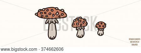 Toadstool Mushroom Gender Neutral Baby Illustration Clipart. Simple Whimsical Minimal Earthy 2 Tone