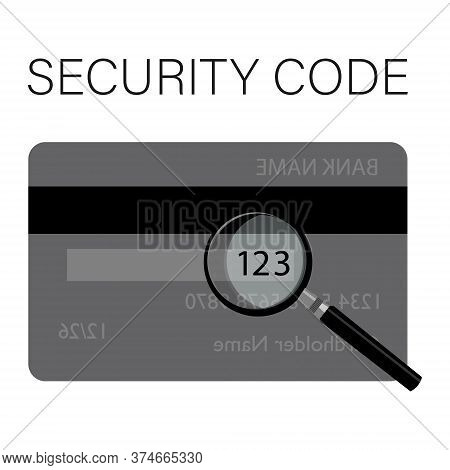 Csv Security Code Is Located On A Typical Credit Card. Back Side Of The Credit Card With Cvv Securit