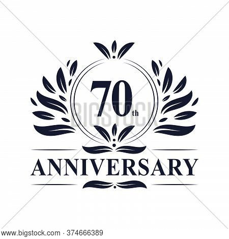 70th Anniversary Celebration, Luxurious 70 Years Anniversary Logo Design.