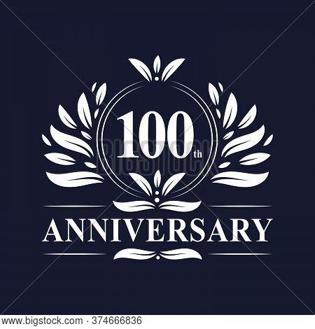 100 Years Anniversary Logo, Luxurious 100th Anniversary Design Celebration.