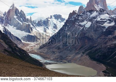 Patagonia landscapes in Southern Argentina. Beautiful natural landscapes.
