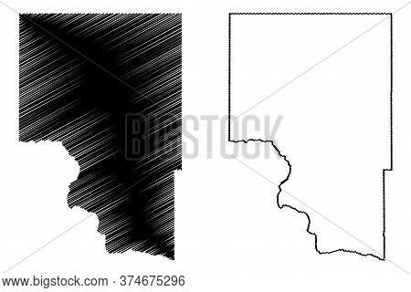 Gooding County, Idaho (u.s. County, United States Of America, Usa, U.s., Us) Map Vector Illustration