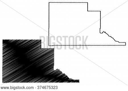 Jefferson County, Idaho (u.s. County, United States Of America, Usa, U.s., Us) Map Vector Illustrati