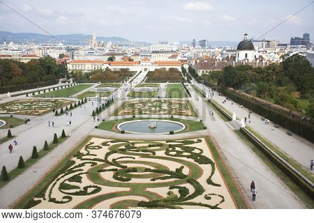 Exterior Decor Art Design And Gardening Of Belvedere Palace Or Schloss Historic Building Complex Mus