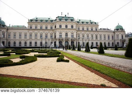 Exterior Decor Design And Gardening Of Belvedere Palace Or Schloss Historic Building Complex Museum