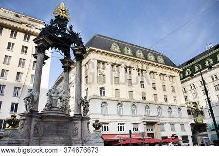 Fountain Of The Wedding Of The Mary Virgin Vermahlung Brunnen Or Joseph Statue Monument For Austrian