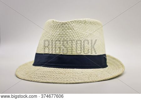 Colorful Handmade Panama Hat Or Carioca Samba Hat. Popular Souvenir From Brazil