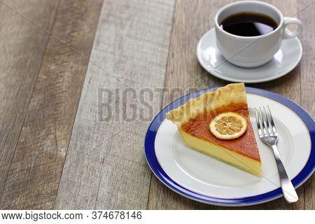 homemade lemon buttermilk pie, southern united states cuisine