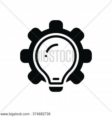 Black Solid Icon For Methodologies Brainstorm Plan Ideas Creativity Inspiration