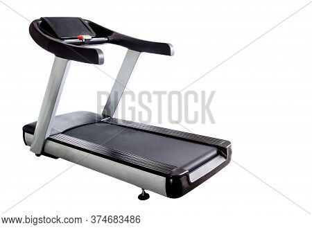 Treadmill Or Running Machine On White Background With Clipping Path - Image,copy Space