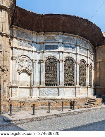 Moez Street With Facade Of Ottoman Era Historic Soliman Agha El Silahdar Complex Building, Gamalia D