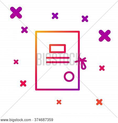 Color Line Lawsuit Paper Icon Isolated On White Background. Gradient Random Dynamic Shapes. Vector I