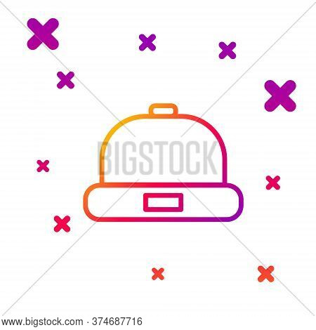 Color Line Beanie Hat Icon Isolated On White Background. Gradient Random Dynamic Shapes. Vector Illu