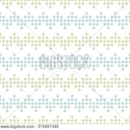 Blue And Green Seamless Zigzag Pattern, Vector Illustration. Seamless Chevron Pattern With Pastel Li
