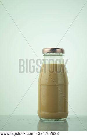 Coffee Mocha In Glass Bottle Ready To Drink
