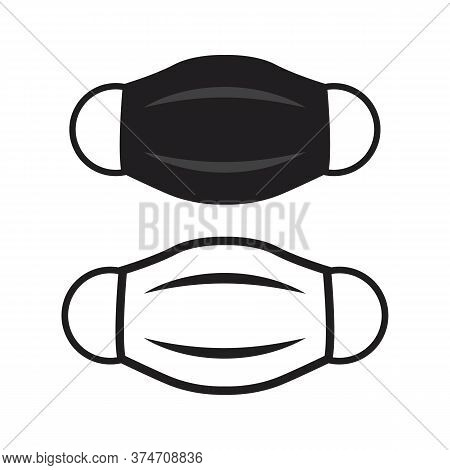 Medical Face Mask Icon, Vector Illustration Mask Protect From
