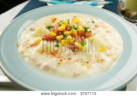 Ham Corn And Potato Chowder