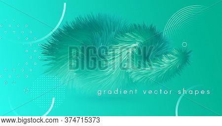 Blue Gradient Fluid. 3d Dynamic Movement. Graphic Concept. Vector Digital Gradient Fluid. Futuristic