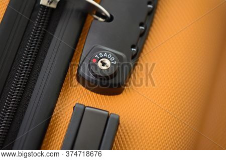 Digital Lock On A Luggage Bag Or Suitcase. Tsa Accepted (transportation Security Administration Of U