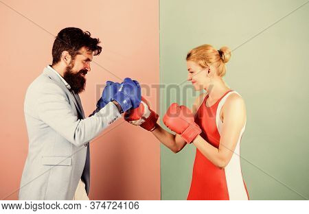 Reconciliation And Compromise. Knockout Punching. Who Is Right. Win The Fight. Bearded Man Hipster F