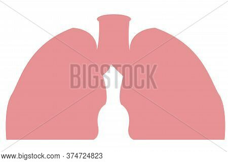 Human Lungs Attack By Covid 19 Or Corona Virus.lungs Vector.human Respiratory System Lungs Anatomy.l