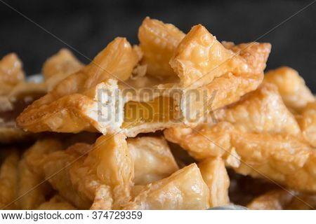 Fried Pastry With Quince And Batata Typical Of South America Gastronomy