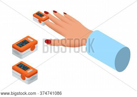 Isometric Portable Pulse Oximetry, Pulse Oximeter Fingertip. Pulse Oximetry Is A Noninvasive Method