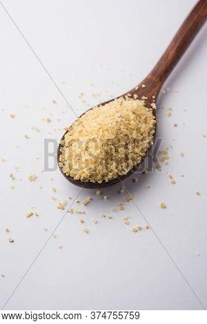 Raw Broken Wheat Or Daliya Or Dalia, Selective Focus