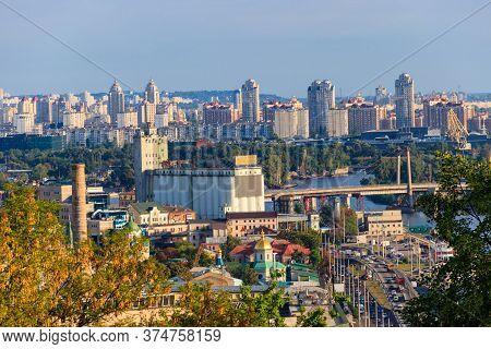 View Of The Dnieper River And Kiev Cityscape, Ukraine