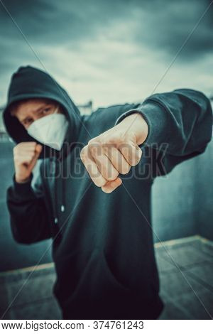young fighter during a pandemic