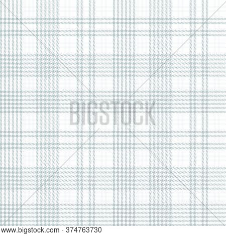 White Glen Plaid Textured Seamless Pattern
