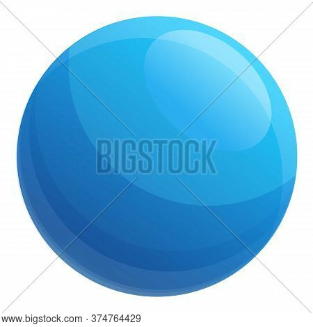 Fitness Ball Icon. Cartoon Of Fitness Ball Vector Icon For Web Design Isolated On White Background