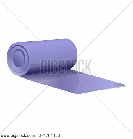 Fitness Yoga Mat Icon. Cartoon Of Fitness Yoga Mat Vector Icon For Web Design Isolated On White Back