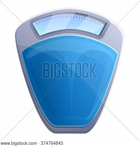 Fitness Scales Icon. Cartoon Of Fitness Scales Vector Icon For Web Design Isolated On White Backgrou