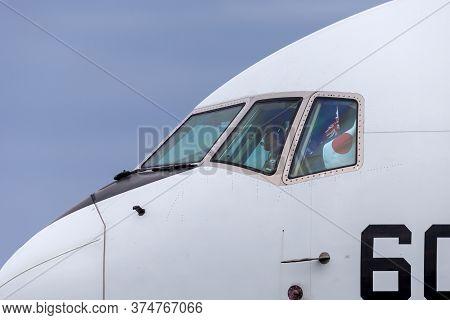 Avalon, Australia - February 28, 2015: Cockpit Of Japan Air Self-defense Force (jasdf) Boeing Kc-767