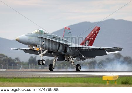 Avalon, Australia - February 27, 2015: Royal Australian Air Force (raaf) Mcdonnell Douglas F/a-18a H