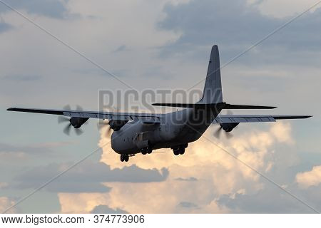Avalon, Australia - February 22, 2015: Royal Australian Air Force Lockheed Martin C-130j Hercules Mi
