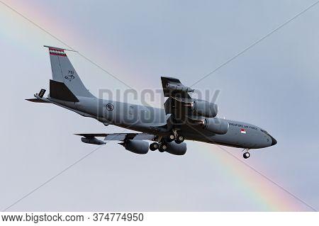 Avalon, Australia - February 21, 2015: Republic Of Singapore Air Force (rsaf) Boeing Kc-135r Aerial