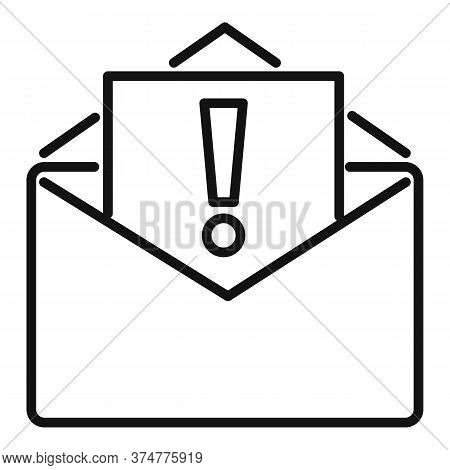 Important Service Center Mail Icon. Outline Important Service Center Mail Vector Icon For Web Design