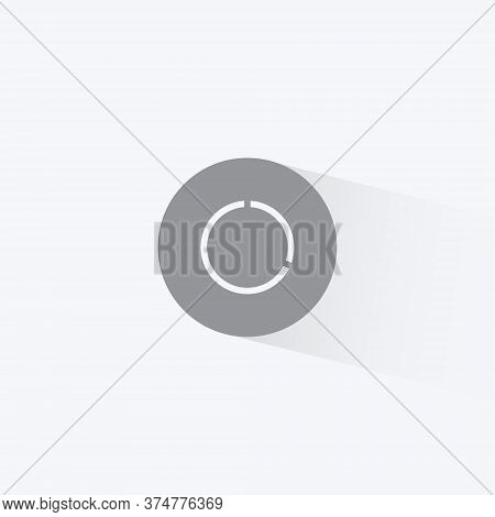 Data Usage Graph Icon Vector In Trendy Flat Style. Data Saver Mode Symbol Illustration