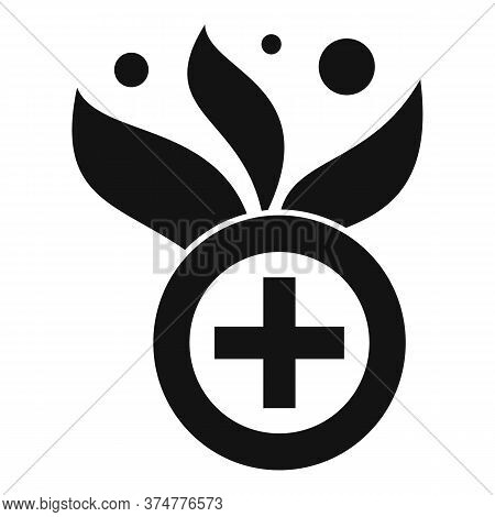 Medical Eco Herbs Icon. Simple Illustration Of Medical Eco Herbs Vector Icon For Web Design Isolated