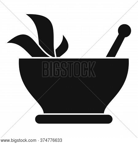 Pharmacist Herb Bowl Icon. Simple Illustration Of Pharmacist Herb Bowl Vector Icon For Web Design Is