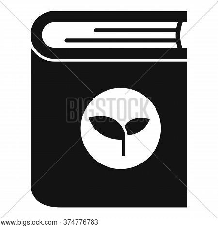 Medicine Herbs Book Icon. Simple Illustration Of Medicine Herbs Book Vector Icon For Web Design Isol
