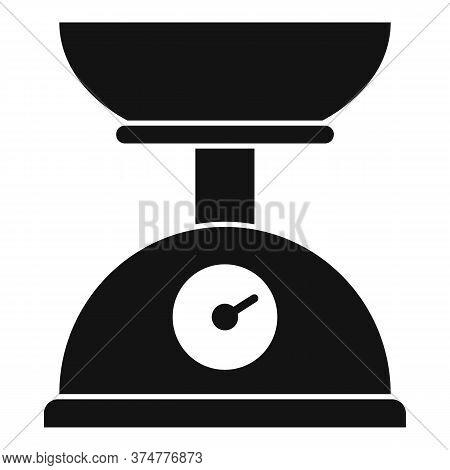 Medicinal Herbs Scales Icon. Simple Illustration Of Medicinal Herbs Scales Vector Icon For Web Desig