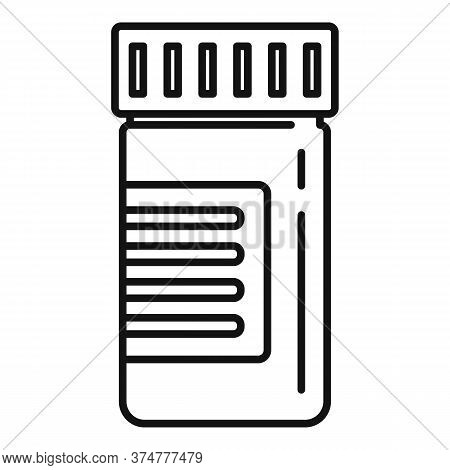 Capsule Jar Icon. Outline Capsule Jar Vector Icon For Web Design Isolated On White Background