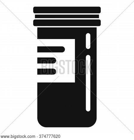 Pills Plastic Jar Icon. Simple Illustration Of Pills Plastic Jar Vector Icon For Web Design Isolated