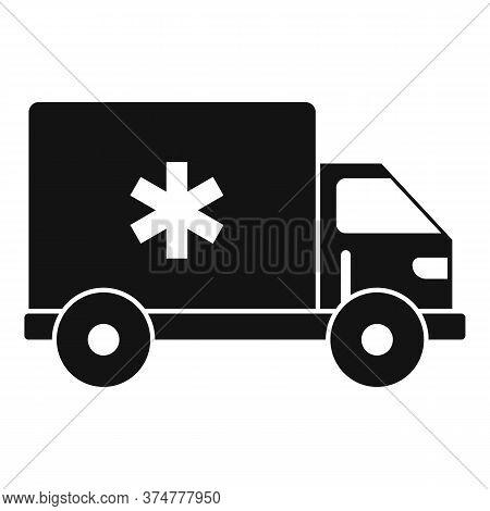 Clinic Ambulance Car Icon. Simple Illustration Of Clinic Ambulance Car Vector Icon For Web Design Is