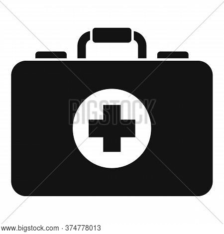 First Aid Kit Bag Icon. Simple Illustration Of First Aid Kit Bag Vector Icon For Web Design Isolated