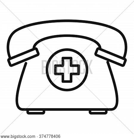 Private Clinic Telephone Icon. Outline Private Clinic Telephone Vector Icon For Web Design Isolated